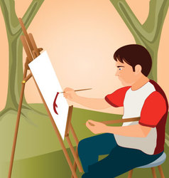 Painter-at-work vector