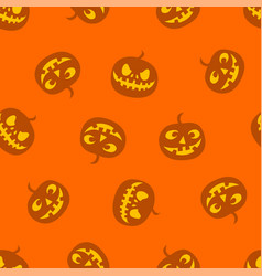 pattern of pumpkins haloween pattern color vector image