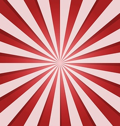 Red and white sunbeam vector