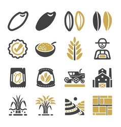 rice icon vector image