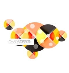 Round shape elements composition Abstract vector