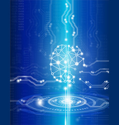 science and technology conceptdigital brain vector image