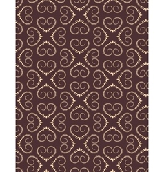 Seamless heart pattern vintage texture twist vector