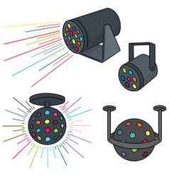 set of disco light vector image