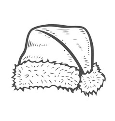 sketch of santa hat vector image