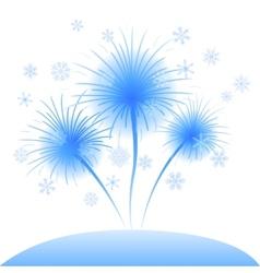 Snowflakes flowers dandelions vector image