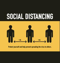 social distancing stop covid-19 coronavirus vector image