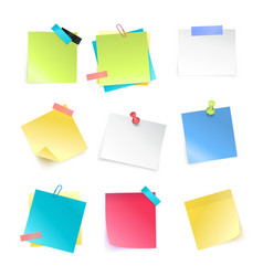 Sticky notes set vector