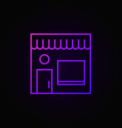 street cafe colored icon cafe building outline vector image