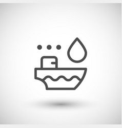 Tanker ship line icon vector