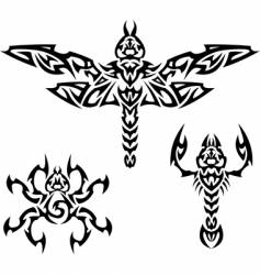 tattoo insects vector image