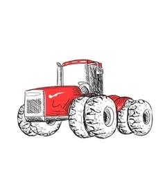 Tractor sketch vector image