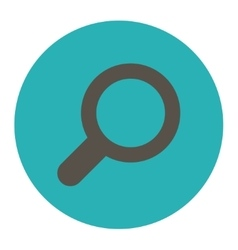View flat grey and cyan colors round button vector