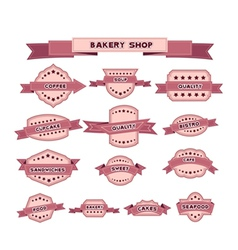 vintage bakery badges and labels vector image