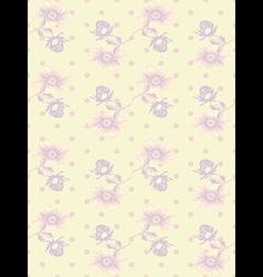 Vintage wallpaper seamless rose flower pattern vector