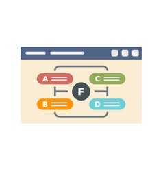 Web page management icon flat style vector
