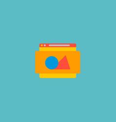 website image icon flat element vector image