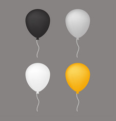 white grey balloon vector image