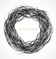 Absract black circle background with lines vector image