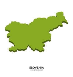 Isometric map of Slovenia detailed vector image