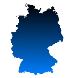 Map of Germany vector image