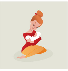 mother and baby vector image vector image