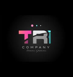 tri t r i three letter logo icon design vector image
