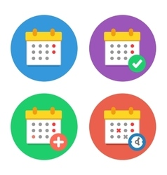 Calendar Icons Flat Set vector image vector image
