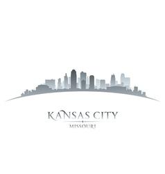 Kansas city Missouri skyline silhouette vector image