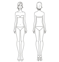 Woman fashion template vector image vector image