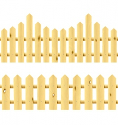 wooden seamless fences vector image vector image