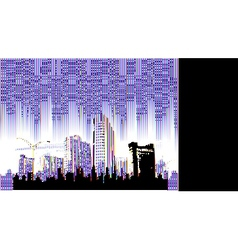 cityscapes silhouettes background vector image vector image