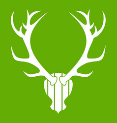 deer antler icon green vector image vector image