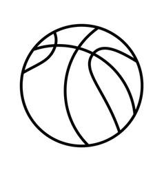 basket ball cartoon vector image