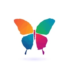Colorful Polygonal Mosaic butterfly vector image