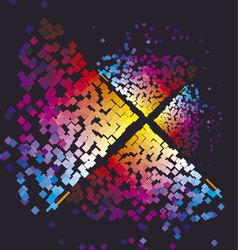 Modern colorful pattern with color square Dynamic vector image