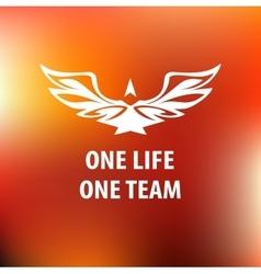 Motto slogan sports team One life one team vector image