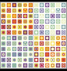 Set of four seamless mosaic floral patterns vector image vector image