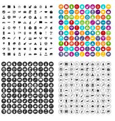 100 elephant icons set variant vector