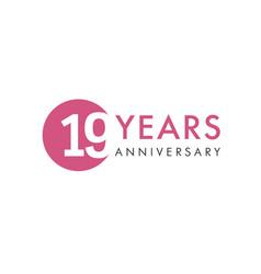 19 years logo vector image