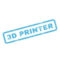 3D Printer Rubber Stamp vector
