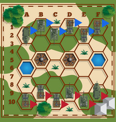 A board game on military theme vector