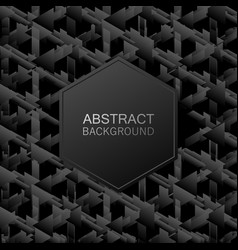 abstract black and white geometric background vector image