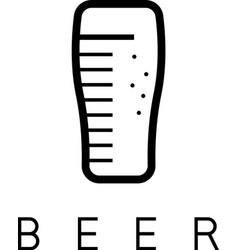 abstract icon design template of beer glass vector image