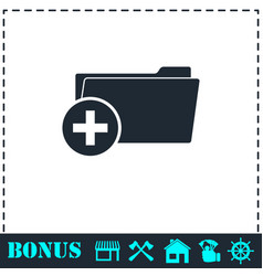 add folder icon flat vector image