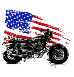 American chopper motorcycle vector