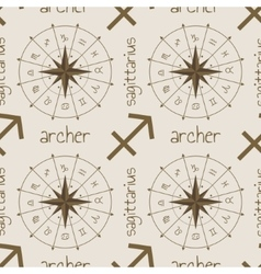 Astrology sign Archer Seamless pattern vector image