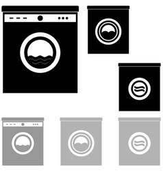 Black and grey washer on the white background vector