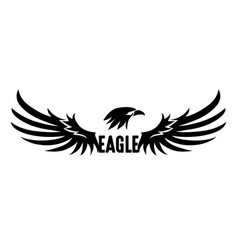 Black eagle vector