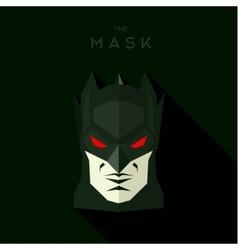 Black mask with wings hero antihero into flat vector
